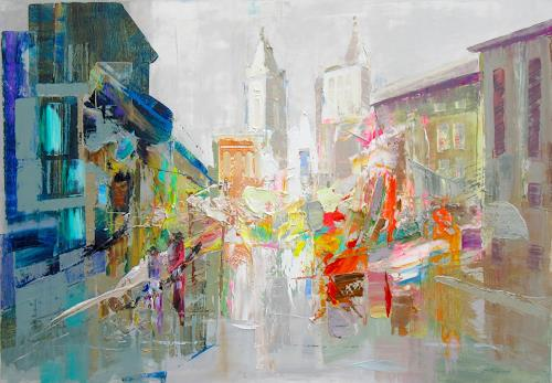 Ernest Hiltenbrand, Sound of Colors, Bauten: Kirchen, Abstraktes, expressiver Realismus, Abstrakter Expressionismus