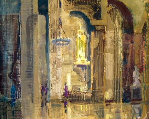 Ernest Hiltenbrand, Nef laterale, Bauten: Kirchen, Architektur, Neo-Expressionismus