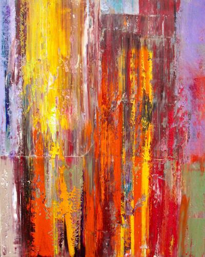 Ernest Hiltenbrand, Feuer und Flamme, Abstraktes, Diverse Landschaften, Neo-Impressionismus, Abstrakter Expressionismus