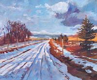 David-Lloyd-Glover-Landschaft-Winter-Moderne-Impressionismus