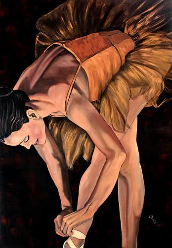 Anka Hubrich, Ballerina vor Auftritt, Bewegung, Expressionismus