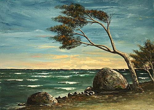 Anka Hubrich, Am Meer, Landschaft: See/Meer, Expressionismus