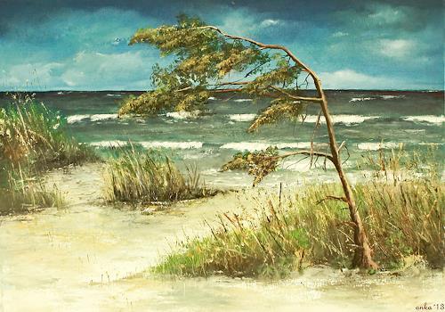 Anka Hubrich, Am Meer 2, Landschaft: See/Meer