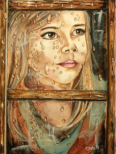 Anka Hubrich, Blick aus dem Fenster, Menschen: Kinder