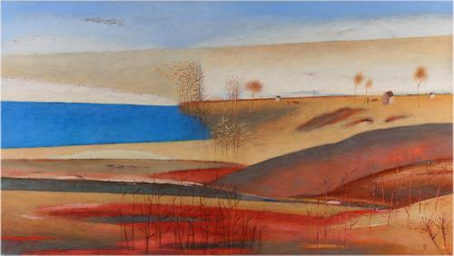 Kestutis Jauniskis, Red Fields, Zeiten: Herbst, Colour Field Painting, Expressionismus