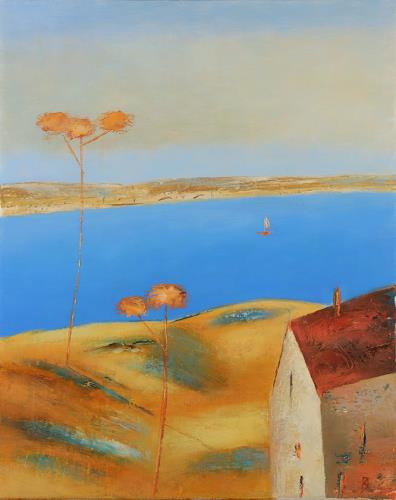 Kestutis Jauniskis, Sea Dunes 1, Landschaft: Strand, Action Painting, Expressionismus