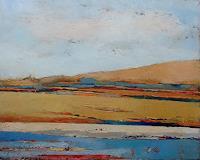 Kestutis-Jauniskis-Landschaft-Berge-Landschaft-Sommer-Moderne-Abstrakte-Kunst-Action-Painting
