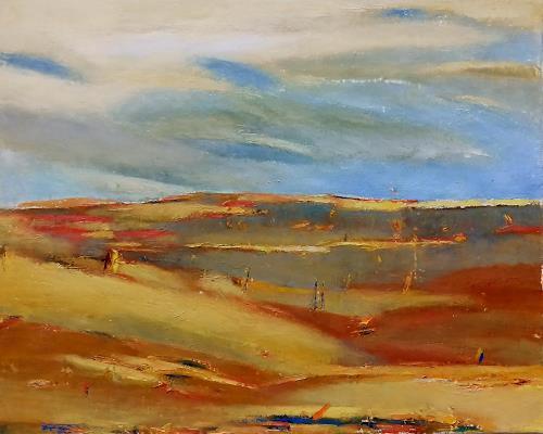 Kestutis Jauniskis, Landscape 7, Landschaft: Hügel, Abstrakte Kunst, Expressionismus