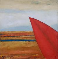 K. Jauniskis, Landscape With A Red Leaf