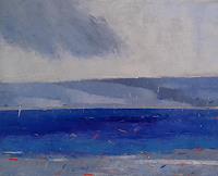 Kestutis-Jauniskis-Landschaft-See-Meer-Moderne-Abstrakte-Kunst