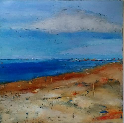 Kestutis Jauniskis, Seaside Landscape, Landschaft: Strand, Action Painting, Expressionismus