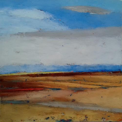 Kestutis Jauniskis, The Plains, Landschaft: Hügel, Action Painting