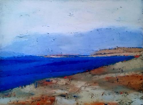 Kestutis Jauniskis, Seaside Landscape 1, Landschaft: Strand, Abstrakte Kunst
