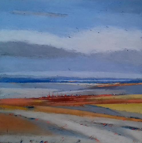 Kestutis Jauniskis, The Lake Coast, Landschaft: Strand, Abstrakte Kunst, Expressionismus