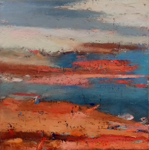 Kestutis Jauniskis, Abstraction 8, Landschaft: Ebene, Colour Field Painting, Expressionismus