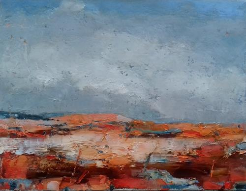 Kestutis Jauniskis, Abstraction 9, Landschaft: Ebene, Colour Field Painting, Expressionismus