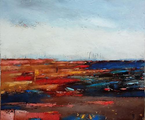 Kestutis Jauniskis, Abstraction 10, Landschaft: Hügel, Abstrakte Kunst