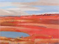 Kestutis-Jauniskis-Landschaft-Huegel-Moderne-Abstrakte-Kunst-Colour-Field-Painting