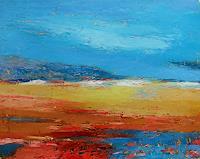 Kestutis-Jauniskis-Landschaft-Huegel-Moderne-Abstrakte-Kunst-Action-Painting