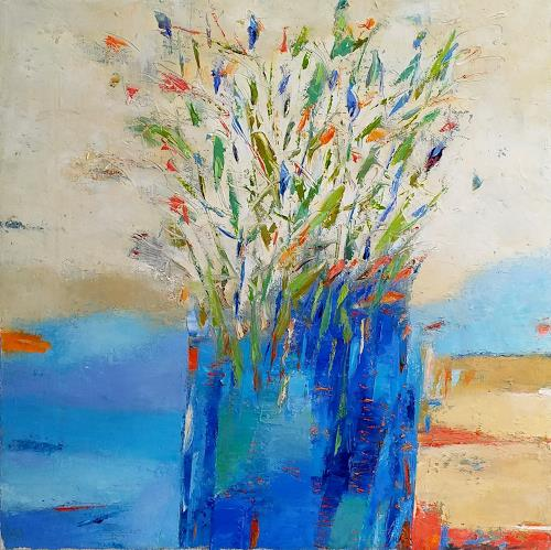 Kestutis Jauniskis, Flowers 1, Pflanzen: Blumen, Action Painting