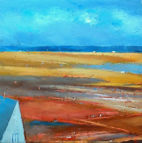Kestutis Jauniskis, Landscape 12, Landschaft: Hügel, Abstrakte Kunst, Expressionismus