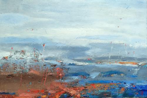 Kestutis Jauniskis, Abstraction 12, Landschaft: Hügel, Colour Field Painting, Expressionismus