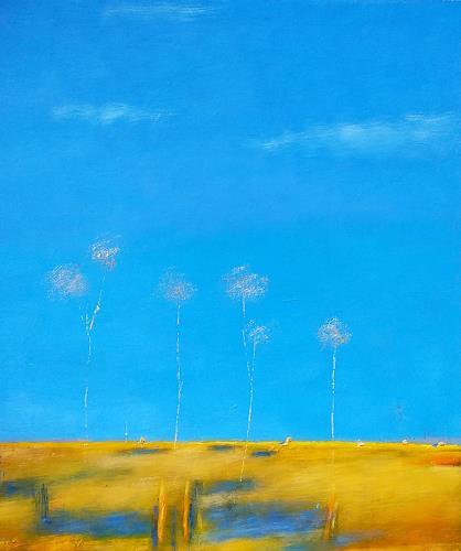 Kestutis Jauniskis, Summer Motif 1, Landschaft: Ebene, Action Painting, Expressionismus