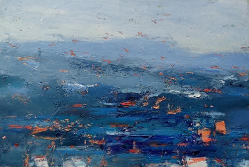 Kestutis Jauniskis, Abstraction 13, Landschaft: Hügel, Action Painting, Expressionismus