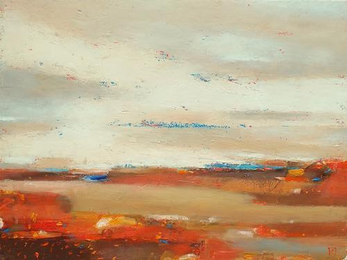 Kestutis Jauniskis, Abstraction 17, Landschaft: Hügel, Colour Field Painting, Expressionismus