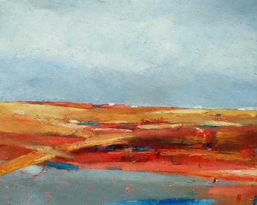 Kestutis Jauniskis, Abstraction 18, Landschaft: Hügel, Colour Field Painting