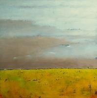 Kestutis-Jauniskis-Landschaft-Ebene-Moderne-Abstrakte-Kunst-Action-Painting