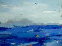 Kestutis-Jauniskis-Landschaft-See-Meer-Moderne-Abstrakte-Kunst-Colour-Field-Painting