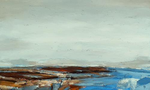 Kestutis Jauniskis, Landscape 29, Landschaft: Hügel, Action Painting