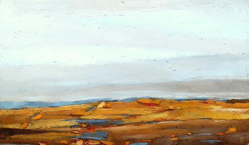 Kestutis Jauniskis, Landscape 30, Landschaft: Hügel, Action Painting