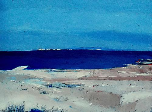 Kestutis Jauniskis, Winter Nera The Sea, Landschaft: See/Meer, Action Painting, Expressionismus