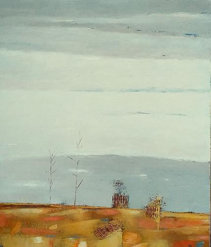 Kestutis Jauniskis, Landscape With Trees, Landschaft: Hügel, Colour Field Painting, Expressionismus