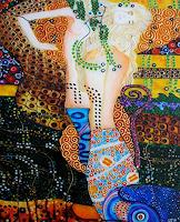 G. Stavar, replica by Klimt - Water serpents I