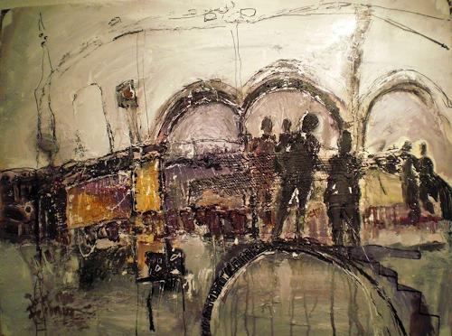 Josef Fekonja, ohne Titel, Abstraktes, Architektur, Abstrakte Kunst