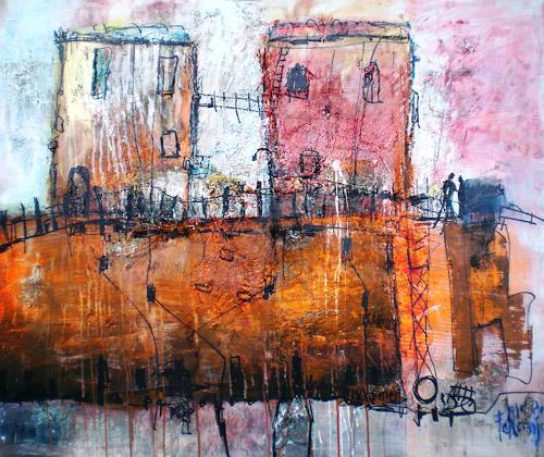 Josef Fekonja, ohne Titel, Abstraktes, Expressionismus