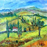 Josef-Fekonja-Landschaft-Huegel-Abstraktes-Moderne-Expressionismus
