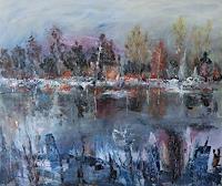 Josef-Fekonja-Abstraktes-Landschaft-See-Meer-Gegenwartskunst-Gegenwartskunst