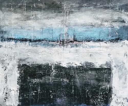 Josef Fekonja, Blackout, Abstraktes, Landschaft: See/Meer, Abstrakte Kunst
