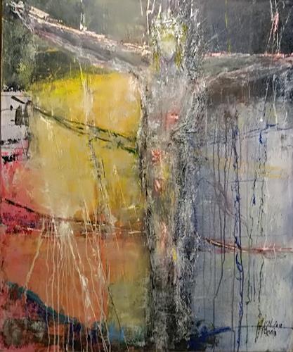 Josef Fekonja, Gekreuzigter, Abstraktes, Glauben, Gegenwartskunst, Abstrakter Expressionismus