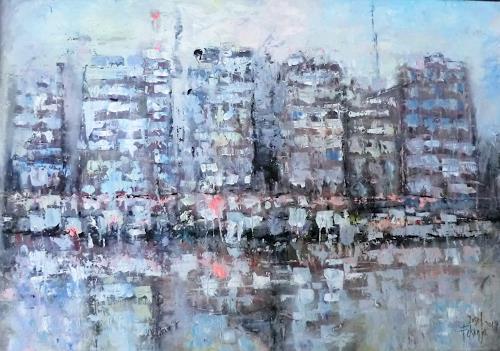 Josef Fekonja, Kalamata, Seaside, Abstraktes, Landschaft, Abstrakte Kunst