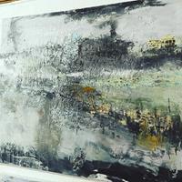 Josef-Fekonja-Landschaft-Abstraktes-Moderne-Abstrakte-Kunst
