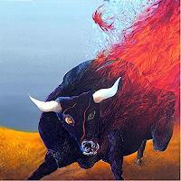 Marian-Czura-Bewegung-Tiere-Land-Moderne-Expressionismus-Abstrakter-Expressionismus