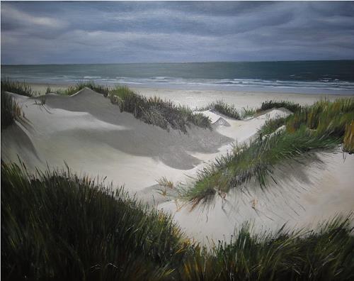 Svantje Miras, Borkum, Landschaft: See/Meer, Landschaft: Strand, Realismus, Expressionismus
