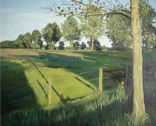 Svantje Miras, Weyerberg, Landschaft: Sommer, Landschaft: Ebene, Realismus