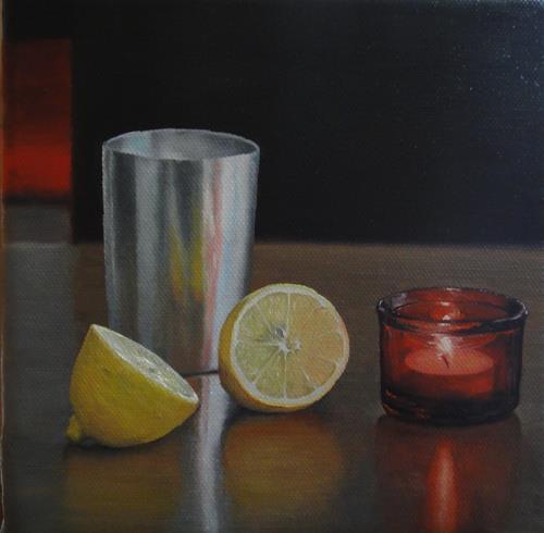 Svantje Miras, Stilleben 4, Stilleben, Essen, Realismus, Expressionismus