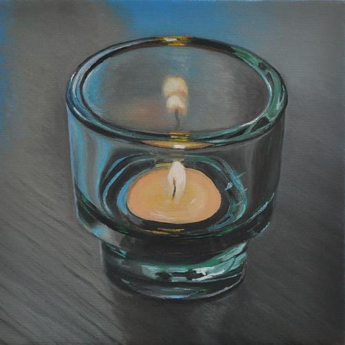 Svantje Miras, Stilleben Kerze, Stilleben, Situationen, Realismus